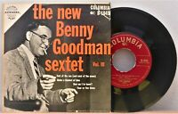 """ THE NEW BENNY GOODMAN SEXTET Vol. III "":  Columbia # B-1845 - 1954:  NM-!!"