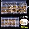 300pcs M2/M3 Brass Hex Column Standoff Spacer Screw Nut Assortment Kit Set im