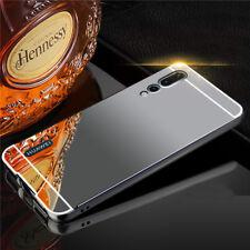 para Huawei P20 Pro ESPEJO PARACHOQUES DE ALUMINIO 2 piezas Bolsillo Negro