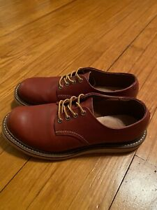 Red Wing Heritage Shoes Style 8001 Oxford Oro Russet Men's Size 9 D 2nds Unworn