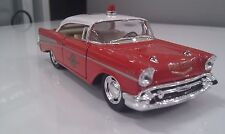 1957 Chevrolet Bel Air fire kinsmart TOY car model 1/40 scale diecast present