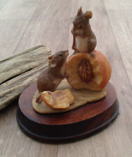 RARE ANSLEY Mastercraft Doormouse Mice Mouse Ornament @1985 collectable present