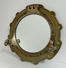 Porthole Mirror Large Antique brass Metal Nautical wall mirror Bathroom,Aluminum