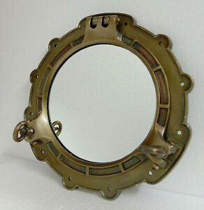 Porthole Mirror Large Antique brass Metal Nautical wall mirror Bathroom,Aluminum