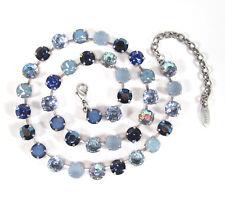 SoHo® Collier Halskette Kette vintage bohemia glass stones blau light sapphire