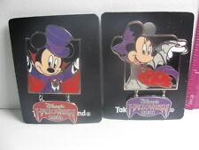 Disneyland Tokyo Pin Disney Mickey Minnie Mouse Halloween 2001 NEW on Cards