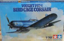 WWII VOUGHT F4U-1 BIRD CAGE CORSAIR TAMIYA 1:72 PLASTIC MODEL AIRPLANE KIT