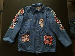 Vintage 1980's Northbrook Illinois Youth Hockey Jacket W/ 20+ Patches