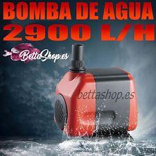 Bomba agua sumergible de 2900l/h 50w caudal regulable acuario fuente estanque