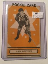 1933 opc hockey rookie card of John Sheppard