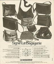 Publicité 1978  LA BAGAGERIE sac à main bagage collection cuir mode