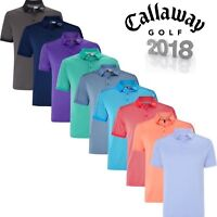 Callaway Denim Jacquard Stripe Opti Dri Mens Golf Polo Shirt