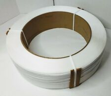 """New listing Polypropylene Strapping Hand Grade Embossed 16"""" x 6"""" Core 7/16"""" White"""