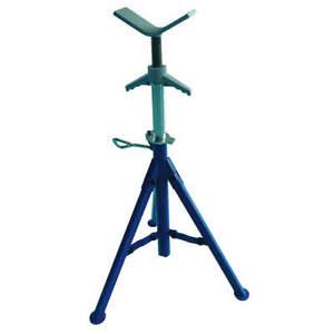 WESTWARD 22XR01 V Head Pipe Stand,Adj,1/8-12 in,28-52 in