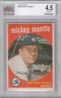1959 Topps #10 New York Yankees HOF Mickey Mantle - BVG VgEx+ (4.5) PSA BGS