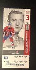 2010 Montreal Canadiens DICKIE MOORE TRAVIS MOEN Playoffs Ticket photo stub