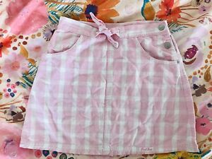 Fred Bare Vintage Pink Gingham Check Skirt Sz 10 VGC