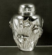 Japanese Sterling Tea Caddy             c1895 - HAND MADE