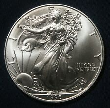 1996 SILVER AMERICAN EAGLE 1 OZ BULLION COIN  LOT 240851