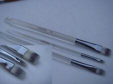 § peinture maquillage lot de 3 pinceaux brosse plat corp transparent plexi 2 6 8