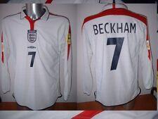 Inghilterra David Beckham uomo UTD CALCIO SOCCER MAGLIA JERSEY uniforme UMBRO XXL L / S