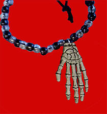Gothic Witch Amulet SKELETON HAND NECKLACE Zombie Horror Mummy Costume Jewelry