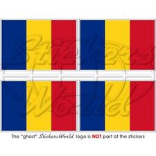 "ROMANIA Flag Romanian 2""(5cm) Bumper-Helmet Stickers x4"