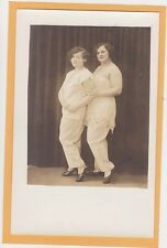 Studio Real Photo Postcard RPPC- Two Flappers Bobbed Hair Unger Studio Milwaukee