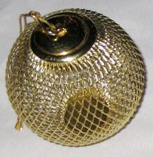 "Goldtone 4"" Wire Metal Ball Decoration Round Ornament"