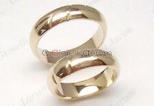 Anello matrimonio coppia n. 2 pezzi fede nuziale in oro giallo tit.750% - 18 kt.