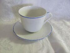 Vista Alegre embossed cup saucer set Manueline Blue rim Portugal fine porcelain