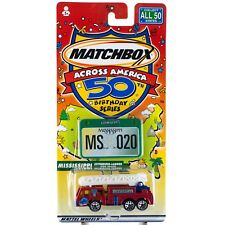 Matchbox Across America MS Mississippi Extending Ladder Fire Truck 20 50th B'day