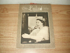 VINTAGE WILKINSON PUBLISHING 1954 THIS ENGLAND 12-MONTH PHOTO WALL CALENDAR