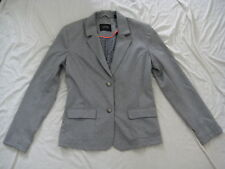 TCM Tchibo Damen Jacke Eleganter Blazer mit Elastan grau Gr 40 NEU