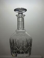 "STUART CRYSTAL ""RICHMOND"" CUT GLASS SPIRIT ROUND WINE DECANTER -SIGNED- 10"" TALL"