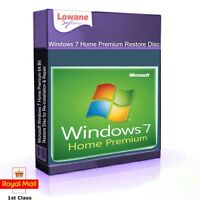 Windows 7 Home Premium 64 Bit Re-Install Restore Repair Boot Disc Recovery DVD