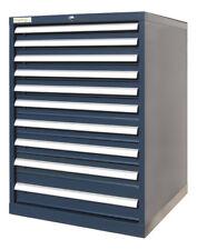 Werkzeugschrank mit 10 Schubladen, blau, Schubladenschrank Werkstattschrank NEU