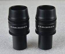 Un paio di grandi dimensioni Leica Microscopio Oculare HC piano S 10X/25 M 507808 1150 7808