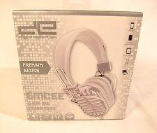 New Digital Essentials EMCEE Microphone Mic Headphones Shure 55 S Silver & White