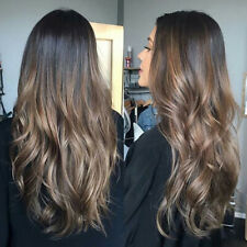 Ombre Brown Human Hair Wigs Balayage Brazilian Full Lace Remy Lace Front Wig
