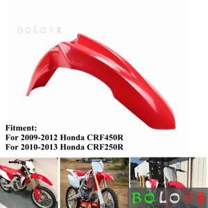 Supermoto Front Fender For Honda CRF250R CRF450R Enduro Motocross - Red