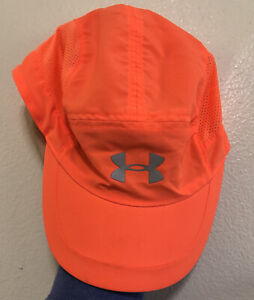 Under Armour Orange Running Adjustable Hat Unisex Marathon