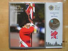 Olympic Royal Mint espíritu de Londres de £ 5 moneda de prueba pres Pack Fiesta Gran Bretaña