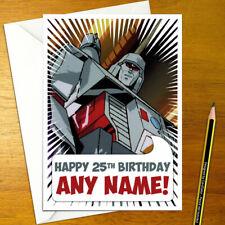 TRANSFORMERS Personalised Birthday Card - prime megatron decepticon personalize