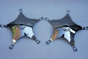 VESPA VLB VBB GL PX VBC GS Stainless Steel Star Hub Caps for 10 Inch Wheels