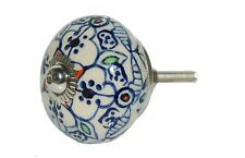 AS MANY* NEW CERAMIC BLUE MOROCCAN DESIGN DOOR KNOBS/HANDLES