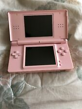 NINTENDO DS LITE PINK CONSOLE WORKING BUT BROKEN HINGE