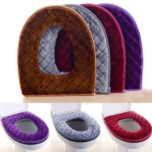 Bathroom Toilet Seat Closestool Washable Soft Warmer Cover Mat Pad Cushion R4S2