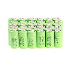 Lot of 36pcs Ni-Cd 600mAh 1.2V 2/3AA rechargeable battery NiCd Batteries - Green