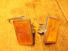 1999 99 Kawasaki VN1500 VN 1500 A Vulcan Amber Rectangle Fork Mounted Reflectors